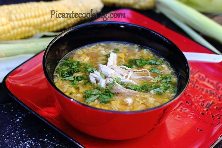 Китайский+кукурузный+суп+с+курицей