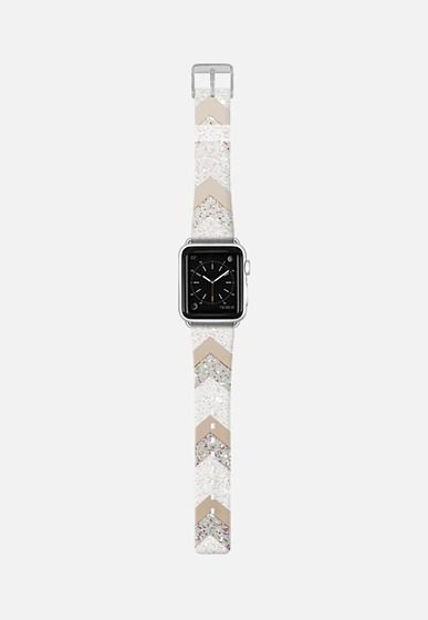 NUDE CHEVRON by Monika Strigel - Apple Watch Strap Apple Watch Band (38mm) by…