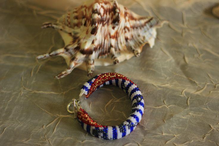 Бисерный морской браслет