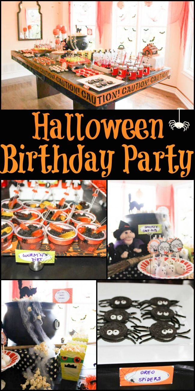 Halloween Birthday Party! Spooky party that is perfect for a your little one so celebrate their special day!