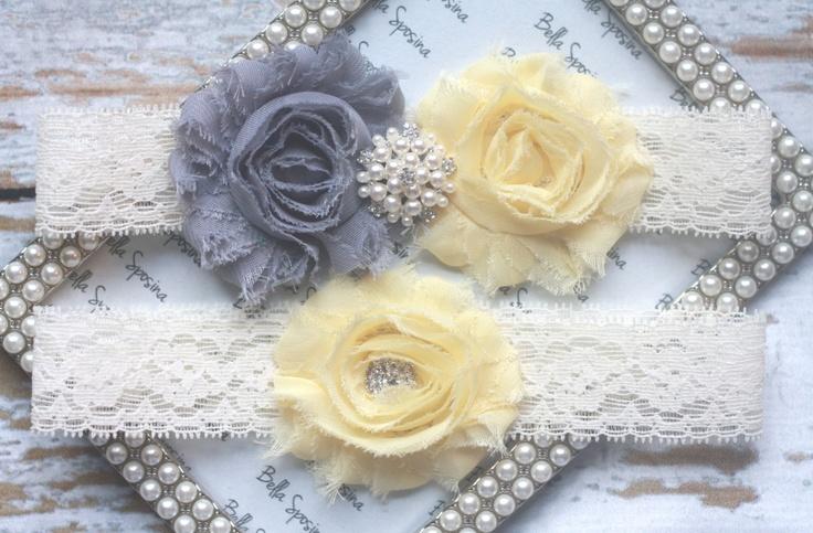 Yellow and Grey Bridal Gart