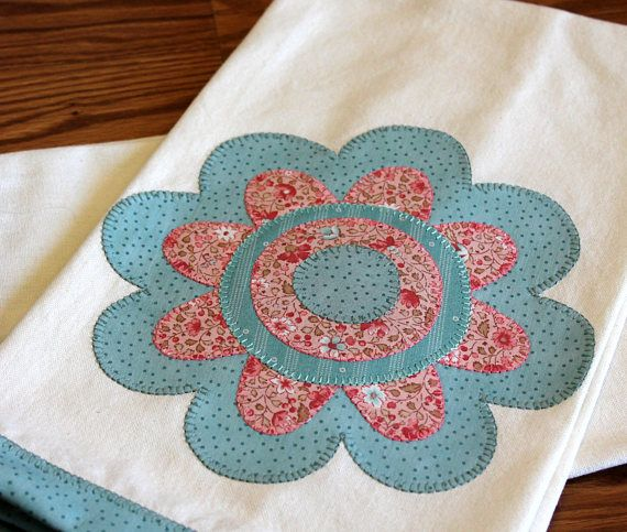 Kitchen Towel Applique Towel Hostess Gift Housewarming Gift