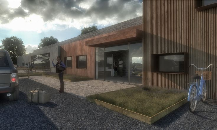 Converted potting sheds into communal and service areas for holiday retreat project in Northumberland   #holidayretreat #northumberland #communalarea #render #architecture