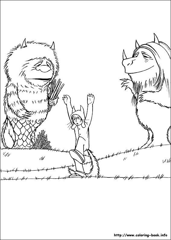 Download Or Print This Amazing Coloring Page Where The Wild Things Are Coloring Page Coloring Pages Coloring Pictures Wild Things Party
