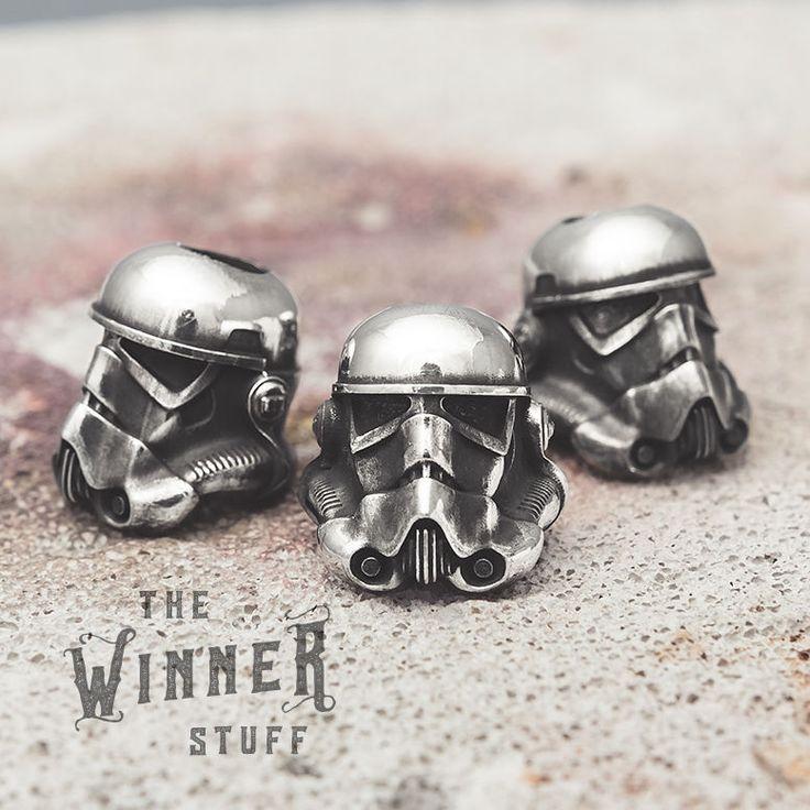 Stormtrooper - knife lanyard paracord leather bead helmet star wars #Moviehero