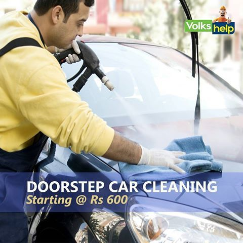 Professional Car Cleaning Services at your Doorstep in Delhi-NCR | VolksHelp.com  Book a Car Washing Service Delhi at 82-87-900-800