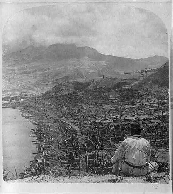 [Views of Martinique after eruption of Mt. Pelee]