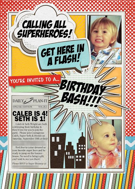 superhero theme // comic book layout