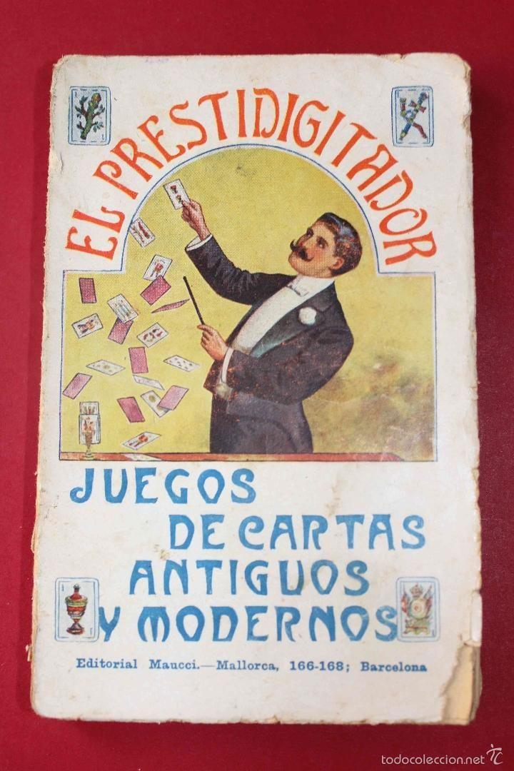 El prestidigitador. Juegos de Cartas Antiguos. Pedro Antonio Giol. Diablo Salones. Magia, ca 1900 - Foto 1