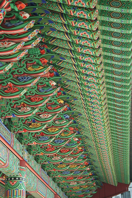 Beautiful Pattern by lets.book, Jogyesa Temple, Seoul, Korea, via Flickr