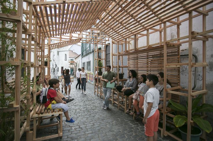 Orizzontale Activates the Street with Wooden Intervention in the Azores Islands,© Rui Soares