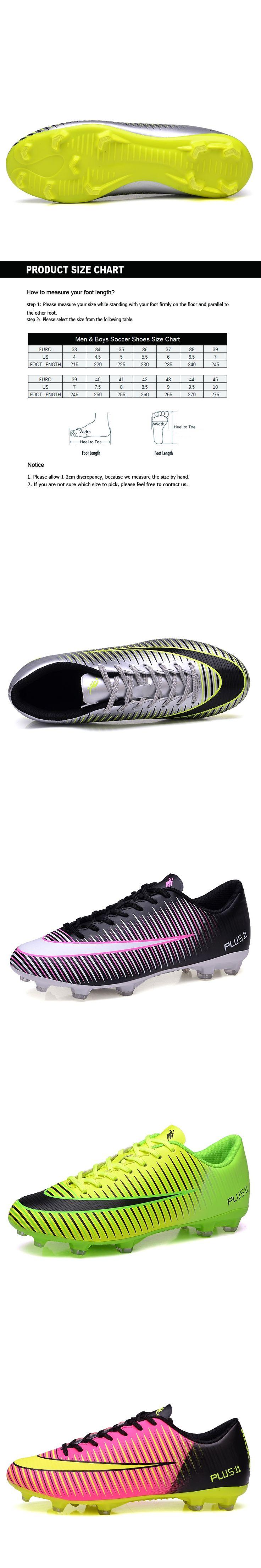 Ibuller Men Soccer Shoes Boys Football Boots Outdoor Soccer Cleats AG for Artificial Grass Ground Chuteiras Size 33-44 S157