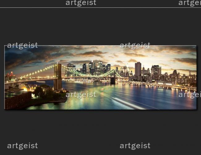 "Il quadro ""The East River at night"""