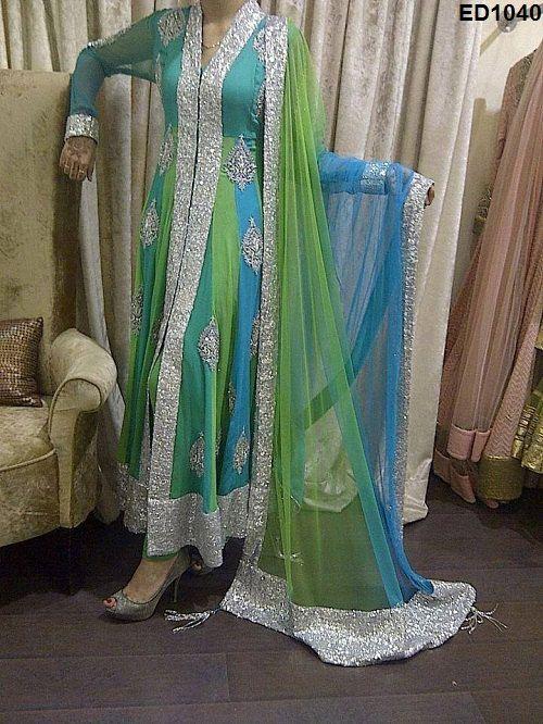 2015 New Year latest Sundari Design Anarkali by Ethnicdresses