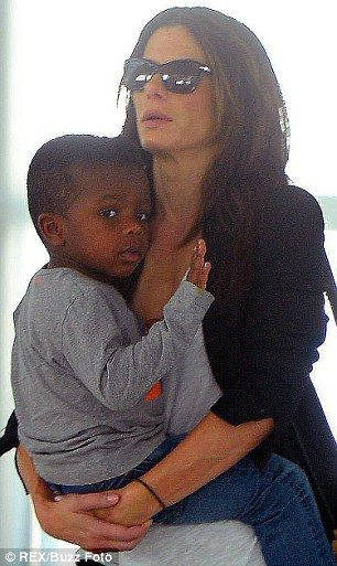He's adorable! Louis will turn four 'at the end of the month' his mom #singleparent Sandra Bullock said on The View