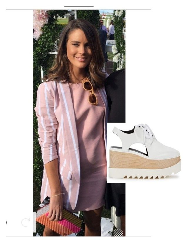 """""""Blazer with mini and flatforms. Featuring wood sunglasses as accesory"""" by clare-dufty-1 on Polyvore"""