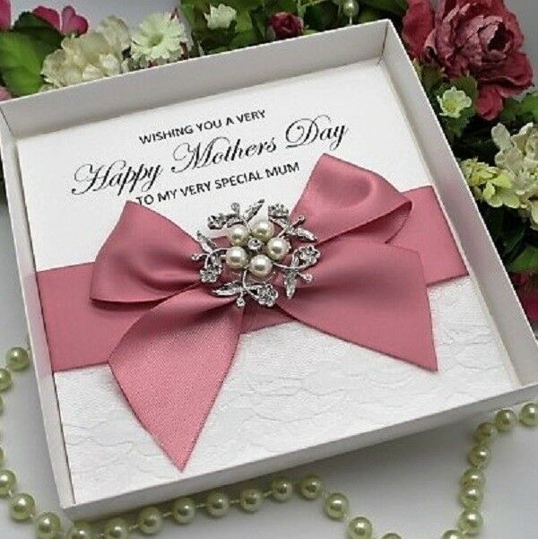 Luxury Wedding Day Card Vintage Lace /& Roses Boxed Personalised Handmade