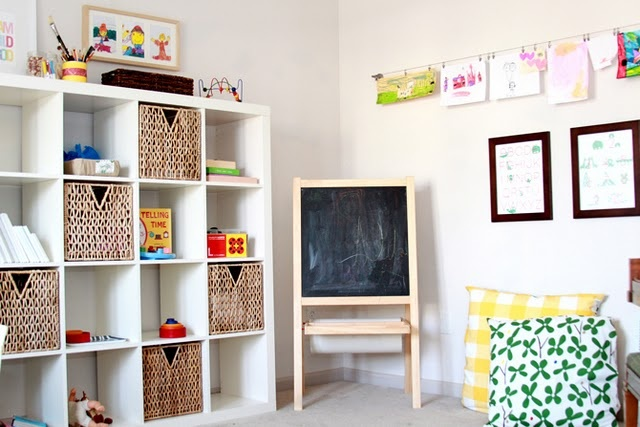 Easel, art display, storage. Perfect for homeschool space.