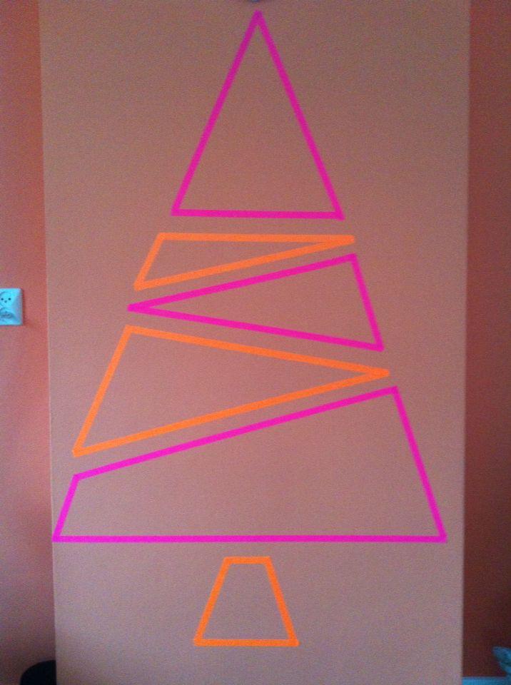 M'n gave nog kale washi tape kerstboom!