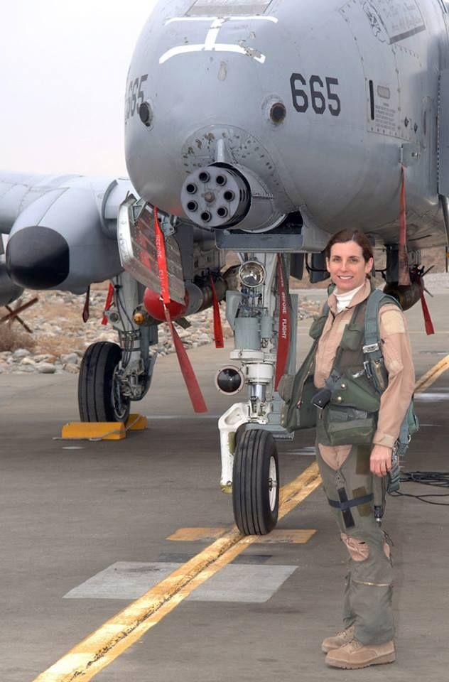Lt. Col. Martha McSally with her A-10C Warthog.
