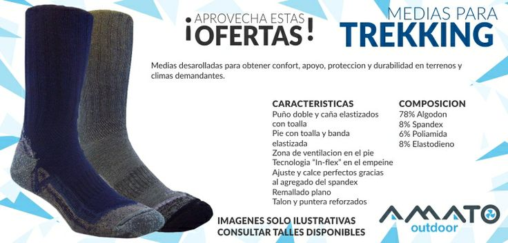 Medias Termicas para Trekking - Conseguilas en Amato Outdoor!