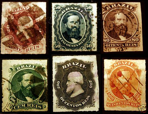 Ending Soon! Brazil #61-#67 1876-77 Mint & Used Set 6 items - Visit our Giant Rare Stamp Sale - Browse 1,500 Classic US & World Stamps and Postal History. http://stores.ebay.com/Little-Art-Treasures