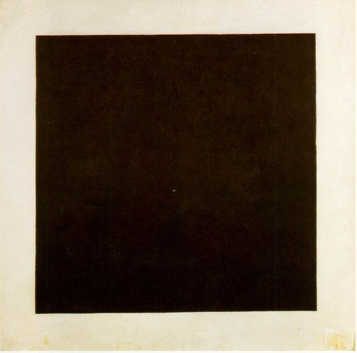 """Black Square"" [1913] 1923-29; Oil on canvas, 106.2 x 106.5 cm (41 3/4 x 41 7/8 in) Kazimir Malevich Icone des années 20. Géométrie (//science)"