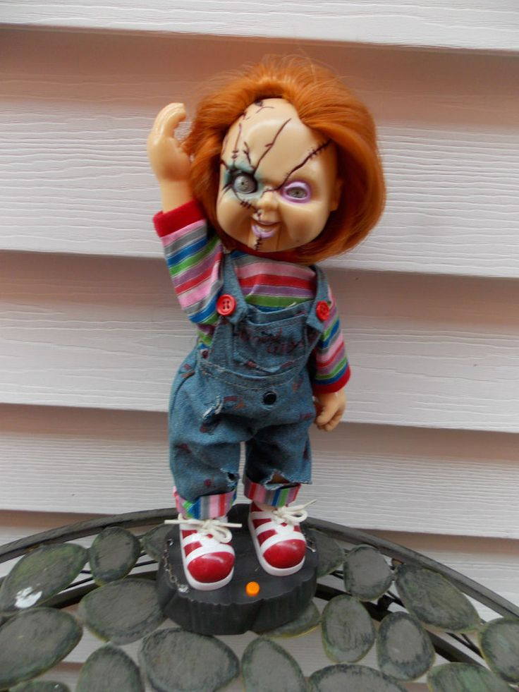 """Animated Talking Chucky Doll w/ Sound & Movement 12"""" by Gemmy WORKING"""