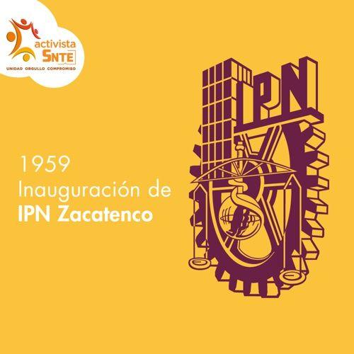 ¡Felicidades a la Comunidad del IPN por el 58 aniversarios de las instalaciones de Zacatenco!: https://activistasnte.mx/content/activista/post/3752390