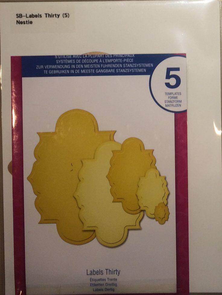 $12 - Spellbinder: Labels Thirty