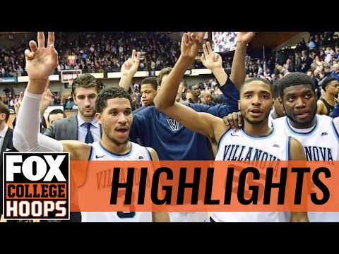 (2) Villanova survives Georgetown rally | 2017 COLLEGE BASKETBALL HIGHLIGHTS