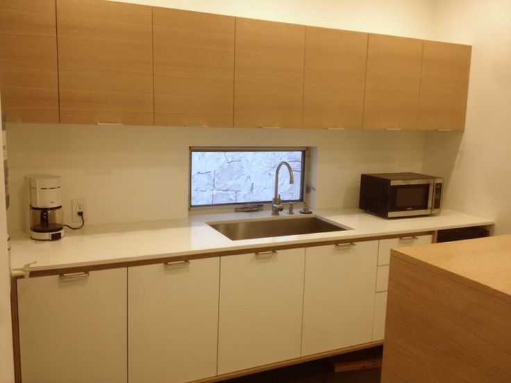 Baltic birch for slab doors and fronts a millwork and for Birch veneer kitchen cabinets