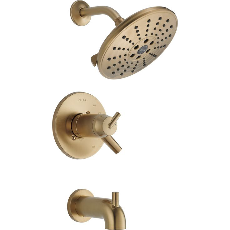 delta trinsic champagne bronze 2handle watersense bathtub and shower faucet trim kit with single