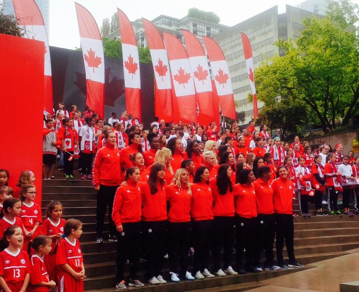 """Canada unveils 2015 Women's World Cup roster!!! Canada has unveiled its 23-player roster for the FIFA Women's World Cup. .Among the high-profile World Cup rookies are 20-year-old fullback Kadeisha Buchanan and 17-year-old midfielder Jessie Fleming. """"Every time I get to play for Canada it's a special moment and I'm just pumped for the start of the tournament,"""" said Fleming."""