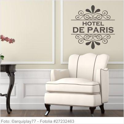 Möbeltattoo Hotel De Paris mit Ornament Shabby 02