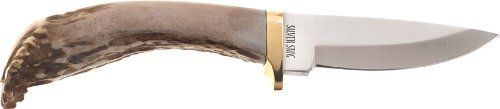Silver Stag Sharp Forest D2 Tool Steel Antler Tip Handle. Premium D2 Tool Steel Blade 3.75 inches long. Overall length approximately 10 inches. Premium leather sheath. Made in U.S.A. Lifetime Warranty. Unique resharpening refinishing service.