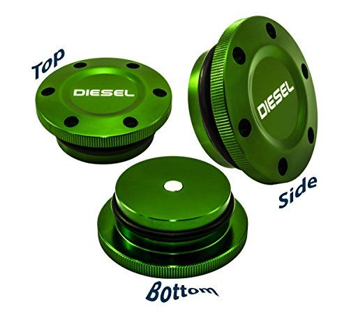 2013-2017 VMS Racing MAGNETIC FUEL CAP in GREEN Anodized Billet Aluminum for Dodge Ram Cummins DIESEL and Ecodiesel 13 14 15 16 17 2013 2014 2015 2016 2017