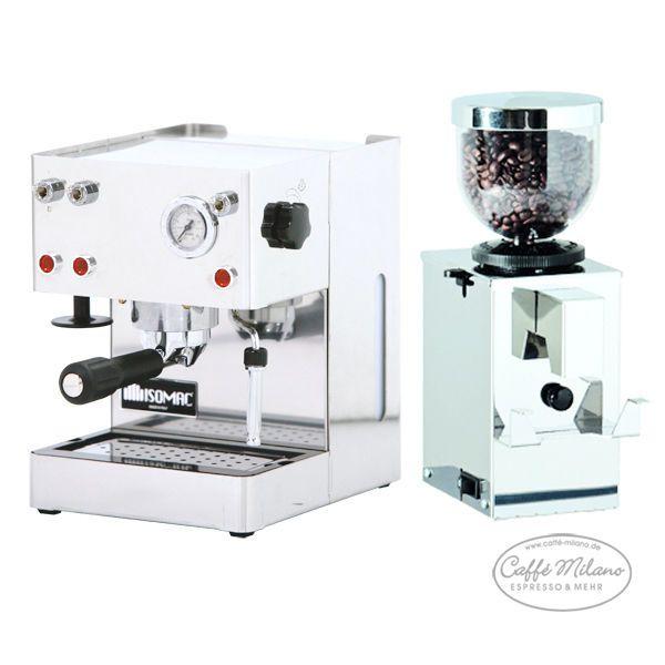 Isomac Giada Espresso Maschine + Isomac Cono Inox Espresso Mühle - Caffe Milano