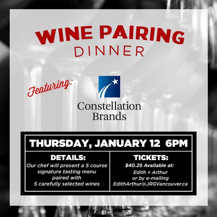 Edith + Arthur Presents a 5 Course Multi Winery Pairing Dinner ‹ Joseph Richard Group