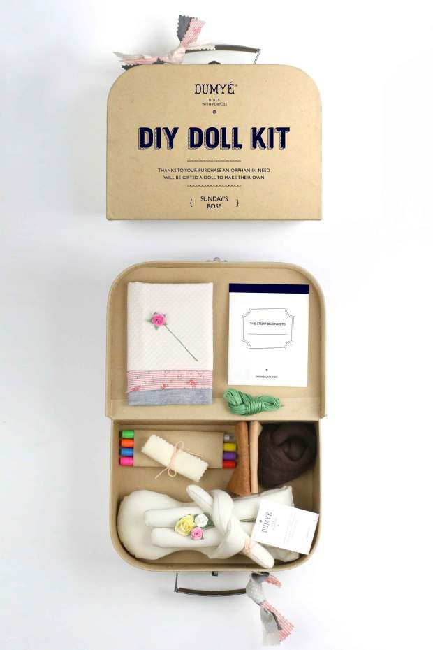When you purchase this $68 organic cotton DIY doll kit you are supporting doll making workshops for orphaned children in refugee camps. For each doll purchased a child will receive a doll. Dumyé: Dolls With Purpose | Indiegogo.