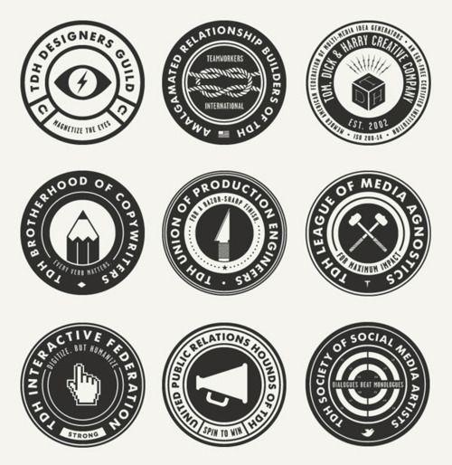 tom dick & harry: Design Inspiration, Badges, Seals, Branding Design, Design Guild, Icons Sets, Logos Design, Graphics Design, Graphics Projects