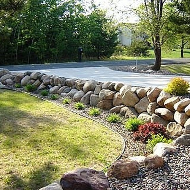 How To Build A Boulder Rock Retaining Wall Natural Rock