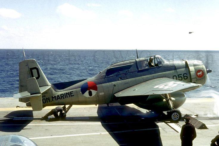 Grumman TBM Avenger aan boord van de Hr Ms Karel Doorman.