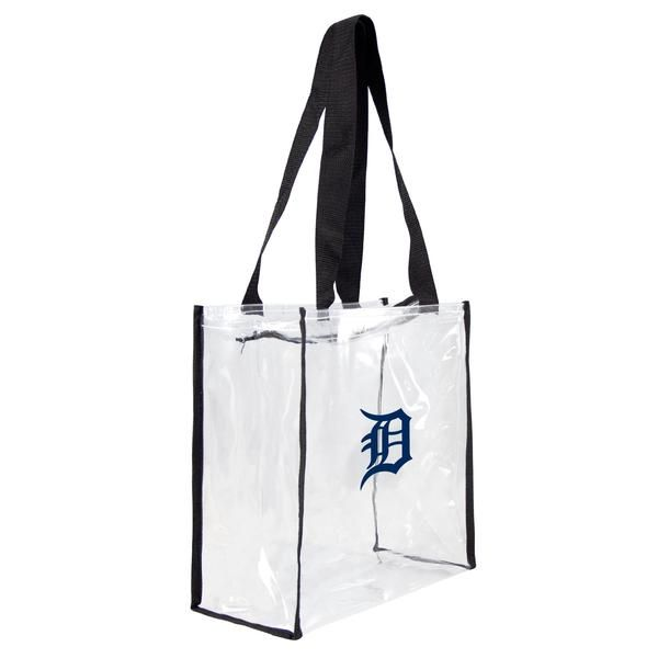 Durable 30C PVC bag  Approved for use in NFL stadiums  Zip closure  Official team logo  League: MLB  Team: Detroit Tigers  Brand: Littlearth  Dimensions: 11.5'' L x 5.5'' W x 11.5'' H