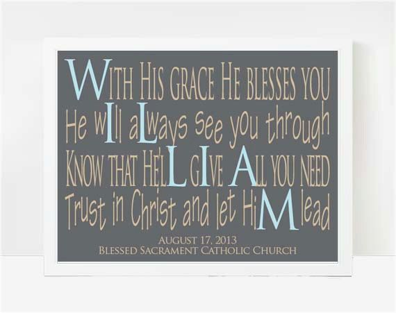 These are really awesome! Baptism Gifts for Boys 8x10 Print Gifts For by LarkRoadRhymes, $25.00