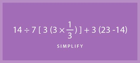 Brush up on your math skills with this practice simplify problem. If you need help or would like to check your answer head to our website.