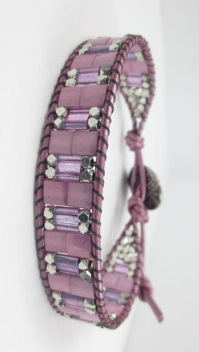 Bead Leather Wrap Bracelet