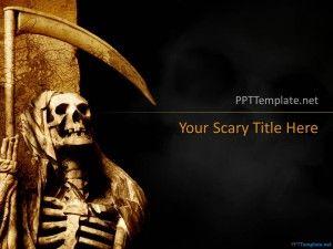 Free Skull Halloween PPT Template