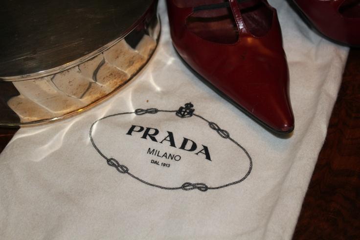 Prada scarlet shoes