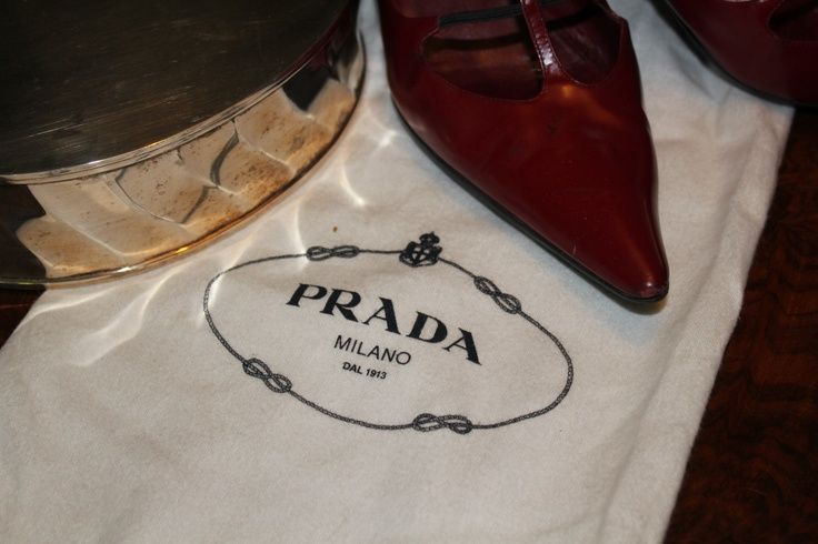 Prada scarlet shoes